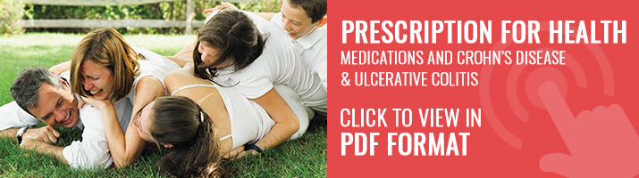 Prescription for Health. Medications and Crohn's Disease and ulcerative colitis