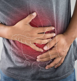 Man with Crohn's having abdominal pain