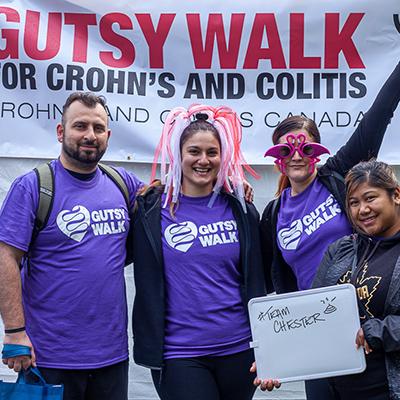Gutsy Walk participants