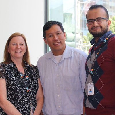 Pictured from Left to Right: Shelley Bouchard, RN; Geoffrey C. Nguyen, MD, PhD, FRCPC, AGAF; Peter Habashi, RN