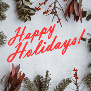 Here's to a terrific holiday season!