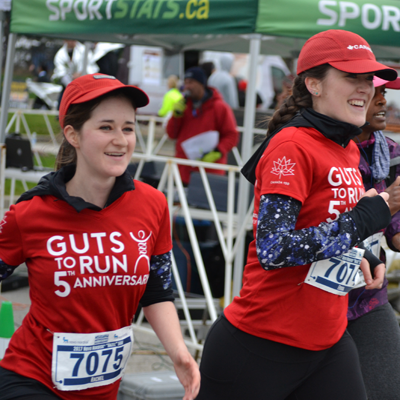 "Maria Glidden and Rob Trewartha of the ""Guts to Run"" team"