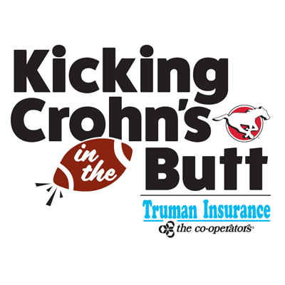 Calgary Stampeders' punter kicking Crohn's in the butt